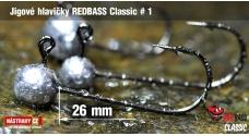 Jigová hlavička REDBASS Classic #1 - 26 mm - 5 ks