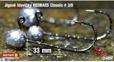 Jigová hlavička REDBASS Classic #3/0 - 33 mm, 5 ks