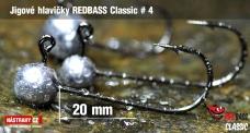 Jigová hlavička REDBASS Classic #4 - 20 mm - 5 ks