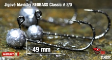 Jigová hlavička REDBASS Classic #8/0 - 49 mm