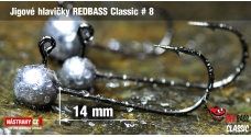 Jigová hlavička REDBASS Classic #8 - 14 mm - 5 ks