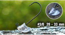 Neváznoucí jigová hlavička REDBASS StandUp Pro Sickle #3/0, 28 - 33 mm, 5 ks