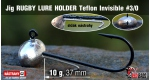 Jig Teflon RUGBY - Lure holder #3/0, 10 g, 5 ks