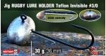 Jig Teflon RUGBY - Lure holder #3/0, 30 g, 5 ks +10 Kč