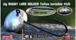 Jig Teflon RUGBY - Lure holder #3/0, 40 g, 5 ks +14 Kč