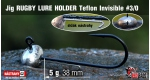 Jig Teflon RUGBY - Lure holder #3/0, 5 g, 5 ks
