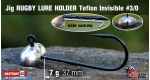 Jig Teflon RUGBY - Lure holder #3/0, 7 g, 5 ks
