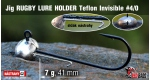 RUGBY - Lure holder #4/0, 7 g, 5 ks
