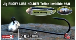 RUGBY - Lure holder #5/0, 7 g, 5 ks