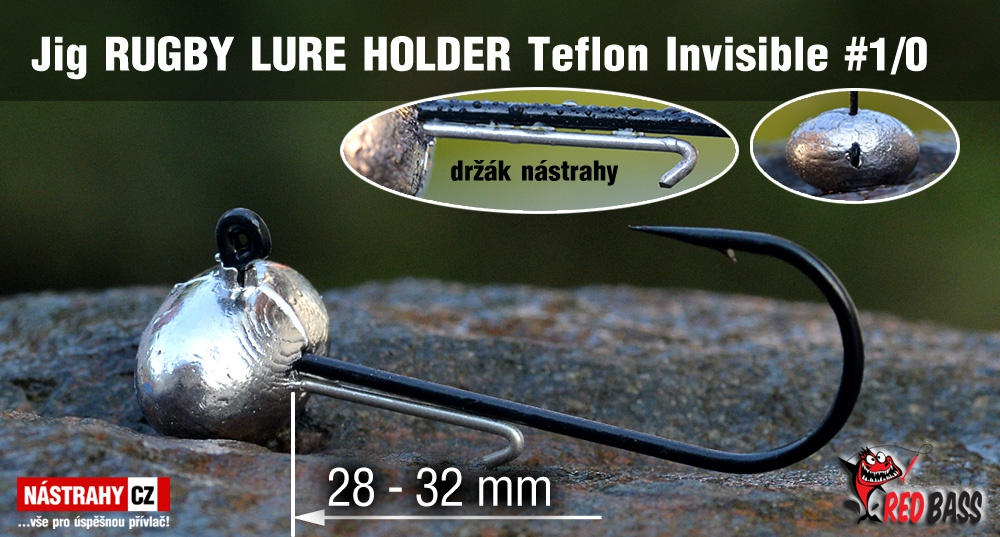 Jig Teflon Invisible RUGBY - Lure holder # 1/0, 5 ks