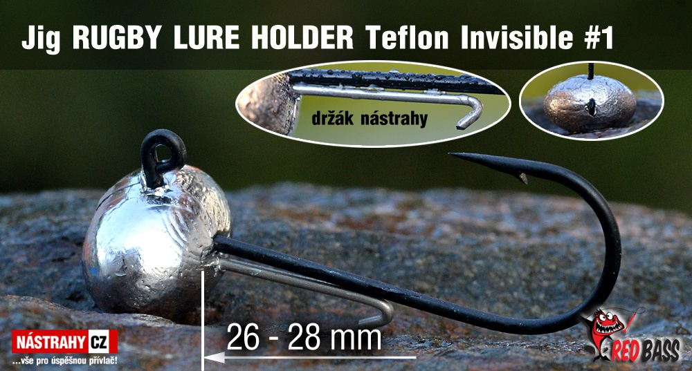 Jig Teflon Invisible RUGBY - Lure holder # 1, 5 ks
