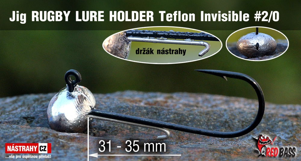 Jig Teflon Invisible RUGBY - Lure holder # 2/0, 5 ks
