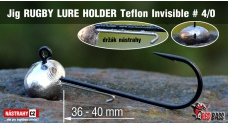 Jig Teflon Invisible RUGBY - Lure holder # 4/0, 5 ks