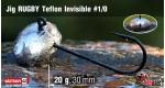 Jig Teflon Invisible RUGBY #1/0 - 20 g, 5 ks +6 Kč