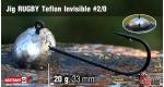 Jig Teflon Invisible RUGBY #2/0 - 20 g, 5 ks +6 Kč