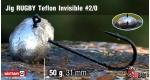 Jig Teflon Invisible RUGBY #2/0 - 50 g, 5 ks +16 Kč