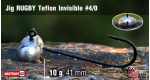 Jig Teflon Invisible RUGBY #4/0 - 10 g, 5 ks