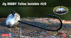Jig Teflon Invisible RUGBY # 2/0, 5 ks