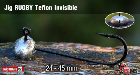 Jigová hlavička Teflon Invisible RUGBY