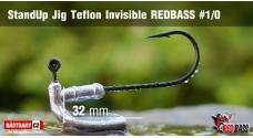 Neváznoucí jigovka Teflon Invisible StandUp REDBASS - s nálitkem #1/0, 5 ks