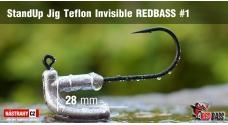 Neváznoucí jigovka Teflon Invisible StandUp REDBASS - s nálitkem #1, 5 ks