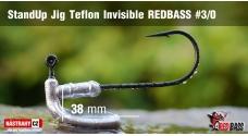 Neváznoucí jigovka Teflon Invisible StandUp REDBASS - s nálitkem #3/0, 5 ks