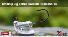 Neváznoucí jigovka Teflon Invisible StandUp REDBASS - s nálitkem #4, 5 ks