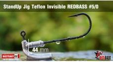Neváznoucí jigovka Teflon Invisible StandUp REDBASS - s nálitkem #5/0, 5 ks
