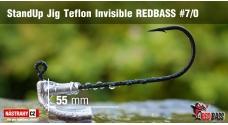 Neváznoucí jigovka Teflon Invisible StandUp REDBASS - s nálitkem #7/0, 5 ks
