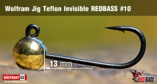 Wolframový jig Teflon Invisible REDBASS vel. 10 - 13 mm - 5 ks