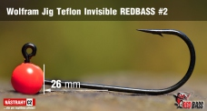 Wolframový jig Teflon Invisible REDBASS vel. 2 - 26 mm - 5 ks