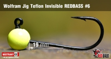 Wolframový jig Teflon Invisible REDBASS vel. 6 - 19 mm - 5 ks