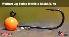Wolframový jig Teflon Invisible REDBASS vel. 8 - 16 mm - 5 ks
