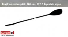 Dvoudílné karbonové pádlo 260 cm - 722.2 Asymetric