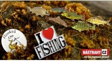 Kovové smaltované rybářské odznaky
