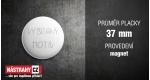 průměr 37 mm - magnet +10 Kč
