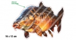 Rybářská samolepka KAPR L