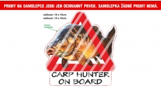 Rybářská samolepka Carp Hunter on Board