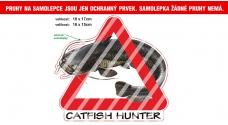Rybářská samolepka Catfish Hunter