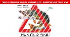 Rybářská samolepka HUNTING PIKE