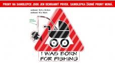 Rybářská samolepka Born for fishing