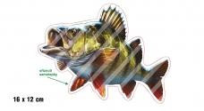 Rybářská samolepka OKOUN 2 L