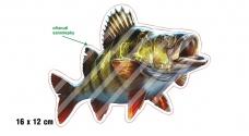 Rybářská samolepka OKOUN 2 P
