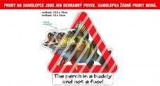 Rybářská samolepka Perch is buddy