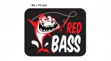Rybářská samolepka REDBASS BLACK
